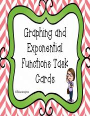 GraphingandTranslatingExponentialFunctionTaskCards