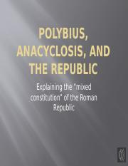 Polybius, Anacyclosis, and the Republic