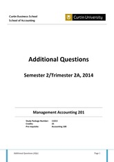 Additional Questions 2-2014