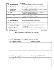 Test I Review Sheet