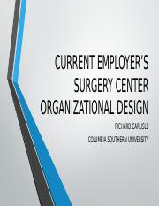 UNIT VIII SURGERY CENTER ORGANIZATIONAL DESIGN