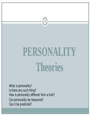 Lecture 5  6 - Personality Theories AGB