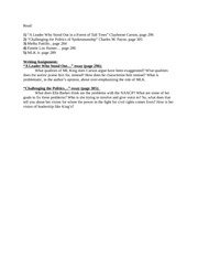 Afro-Amer. History Rec.-Week 10 Question Sheet
