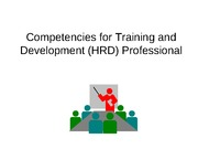 2. Competencies for Training and Development Professional