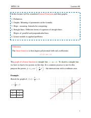 Lecture #8. Linear functions and lines.pdf