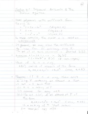 Lecture 7 on Midterm Exam Review and Polynomial Arithmetic