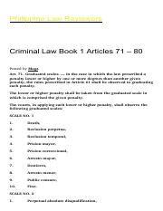 Criminal Law Of The Philippines Pdf