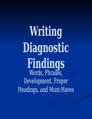 Writing Diagnostic Findings.pptx