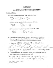 Radioactivity Worksheet - Khayav
