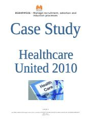 BSBHRM506 - Case study.doc