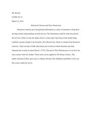 historical criticism questions
