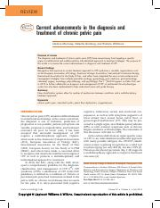 Current advanc in the diagnosis and treatment of chronic pelvic pain.pdf