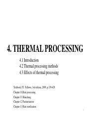 4 Thermal processing