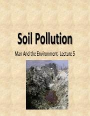 Lecture 5- Soil Pollution lecture