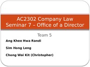 AC2302 Company Law  Session 7