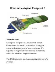 What is Ecological Footprint .docx