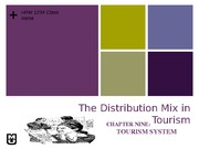 Chapter 9: Distribution mix in Tourism