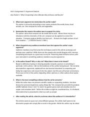 unit 1 assignment 3 argument analysis[2305843009214392451].docx