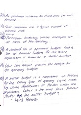 budgeting and comissions notes