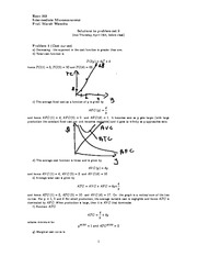 ECON 301 Spring 2013 Problem Set 9 Solutions