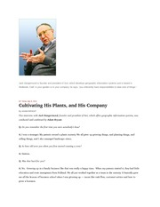 cultivating plants like a company july 9 2011