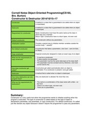 Cornell Notes(Constructor)