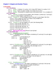 Lecture Notes on Divisibility