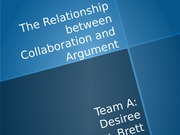 The Relationship between Collaboration and Argument (2)