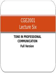 Lecture 6 Tone in Professional Communication Full Version.pptx