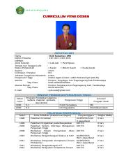 94369778 Cv Dosen Contoh Iailm Suryalaya Curriculum Vitae Dosen