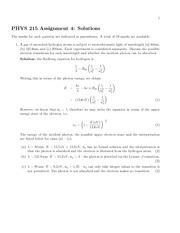 Phys 215 Assignment 4