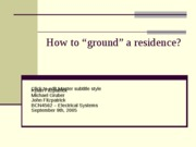 Grounding_ResidenceA