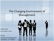 Part 5.1 The Changing Environment of Management