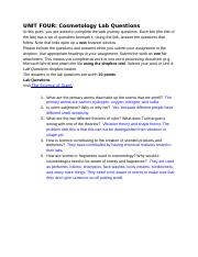 UNIT FOUR_ Cosmetology Lab Questions.docx