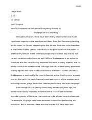 Shakespeare paper