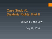 Disability Rights, Part II - 7-14