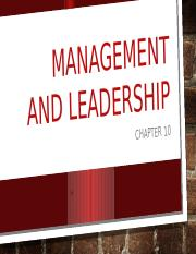 chapter 10 Management and leadership.pptx