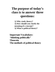 definition of political theory