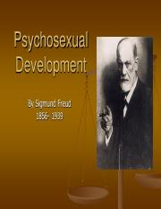 3- PSYCHOSEXUAL DEVELOPMENT