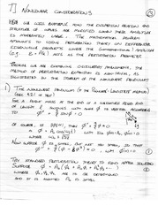 PHYS 495 Nonlinear Considerations Notes