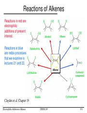 L19-Electrophilic Addition to Alkenes