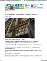 What Negative Bond Yields Mean for Investors - WSJ02022015