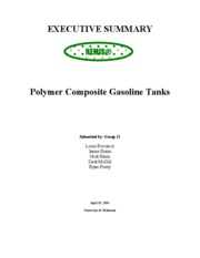 Gas Tank-Executive Summary