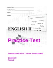 EOC English II Revised Practice Test