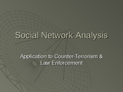 SNA Theory to Terrorism