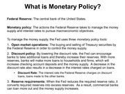 Lecture 18 Monetary Policy