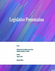 wk 5 Legislative Presentation.ppt