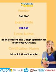 Dell EMC E20-555 Real Practice Exam