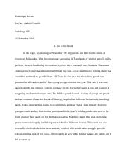 Sociology Paper