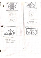 Inscribed Triangles and Rectangles Problems